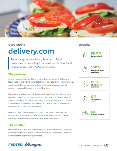 Forter Case Study: delivery.com