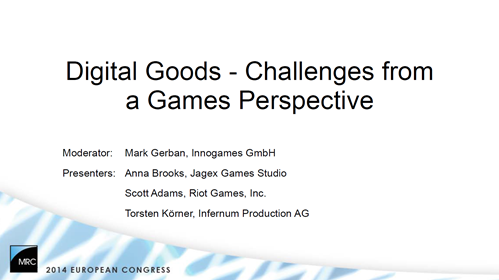 Knowledge Pills: Digital Goods - Challenges from a Games Perspective