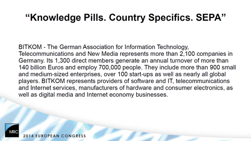 Knowledge Pills: Country Specifics - SEPA