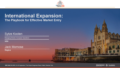 International Expansion -- The Playbook for Successful Market Entry