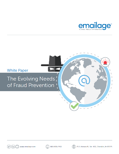 The Evolving Needs of Fraud Prevention