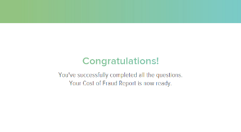 Cost of Fraud Calculator report ready