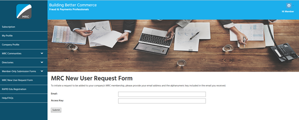 MRC New User Request Form