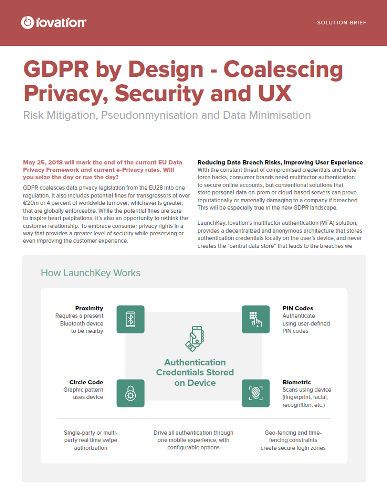 GDPR by Design - Coalescing Privacy, Security, and UX