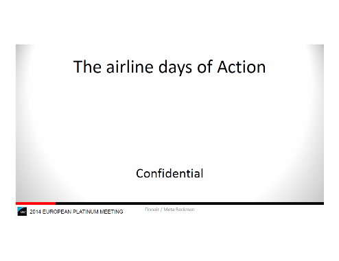 Enforcement Case - The Airline Days of Action