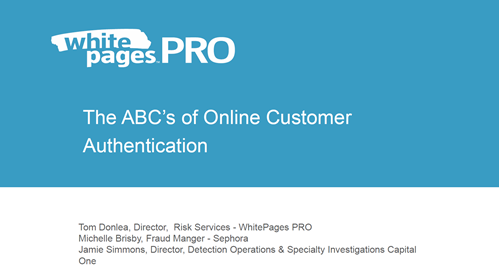 The ABCs of Online Customer Authentication