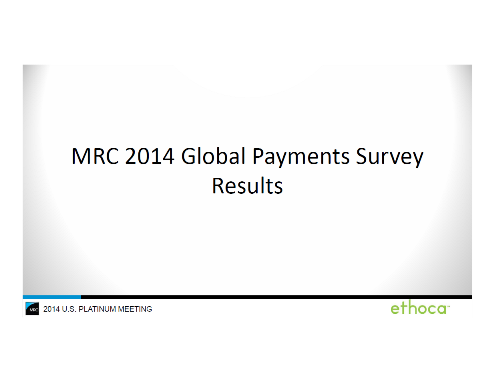 2014 MRC Global Payments Survey