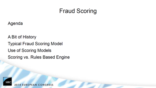 Knowledge Pills: Fraud Scoring