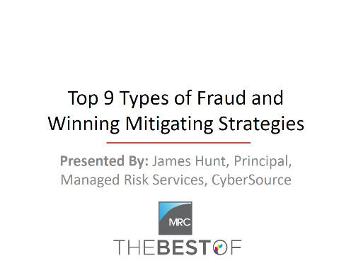 2015 Top 9 Types of Fraud and Winning Mitigating Strategies