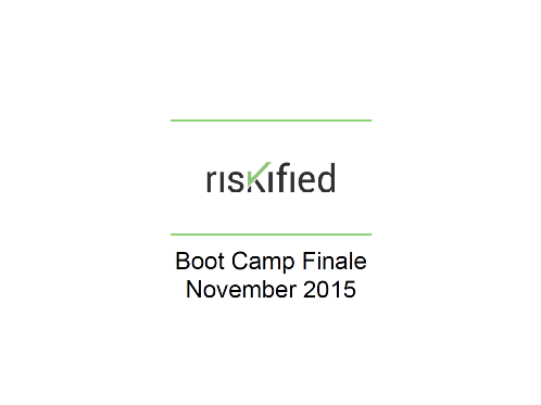 Bootcamp Finale - Riskified Bootcamp Series, Part 4