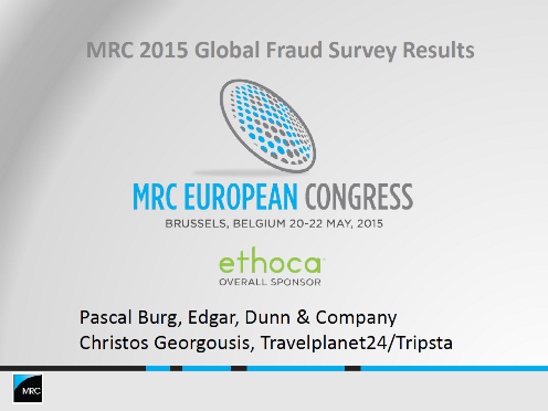MRC Global Fraud Survey Results 2015