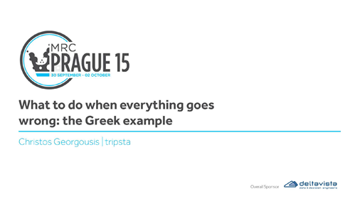 What to do When Everything Goes Wrong: the Greek Example