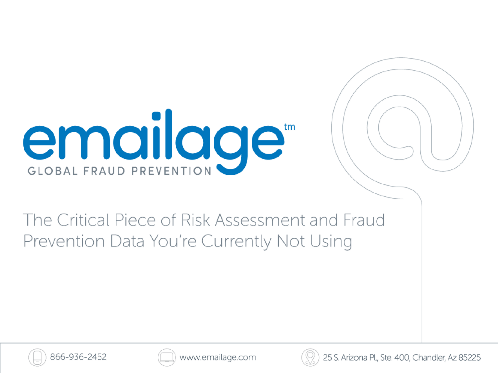 The Critical Piece of Risk Assessment and Fraud Prevention Data You Are Currently Not Using