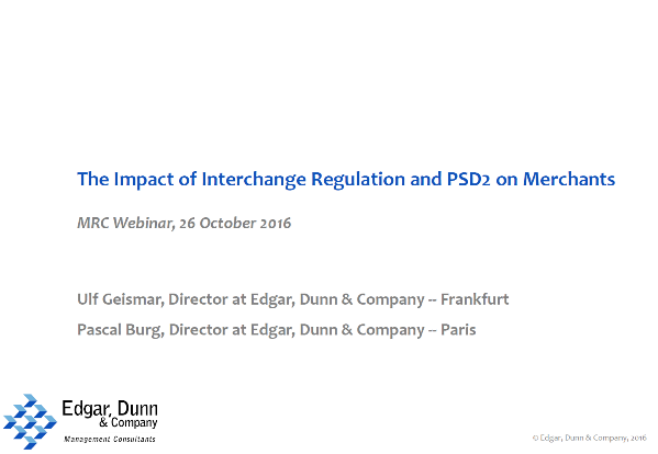 The Impact of Interchange Regulation and PSD2 on Merchants