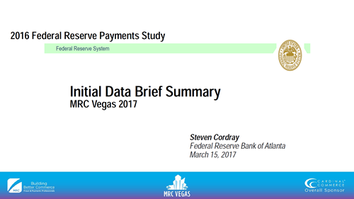 Results of the 2016 Federal Reserve Triennial Payments Study