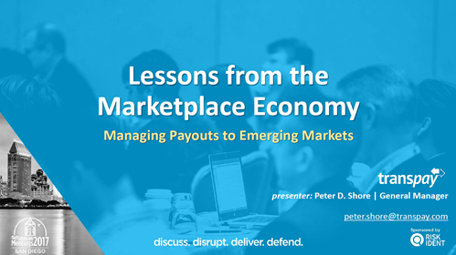 Lessons from the Marketplace Economy -- Managing Payouts to Emerging Markets
