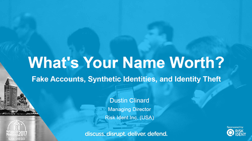 What's Your Name Worth? Fake Accounts, Synthetic Identities, and Identity Theft