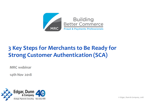 3 Key Steps for Merchants to Be Ready for Strong Customer Authentication