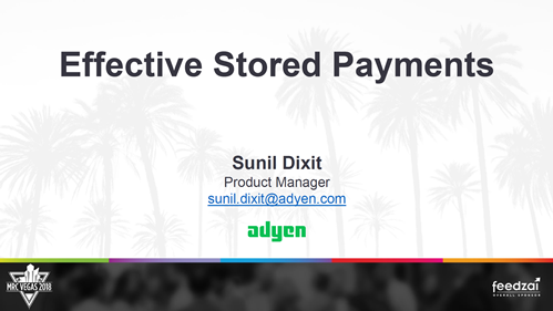 Effective Stored Payments