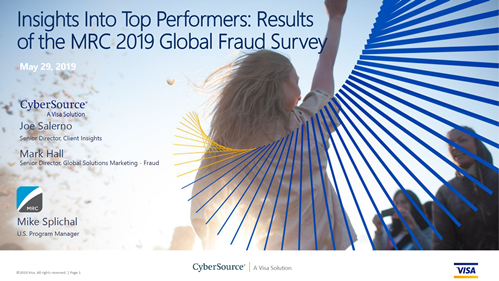 Insights Into Top Performers: Results of the MRC 2019 Global Fraud Survey