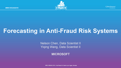 Forecasting in Anti-Fraud Risk Systems