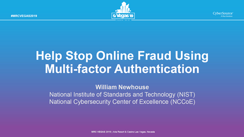 Help Stop Online Fraud Using Multi-factor Authentication