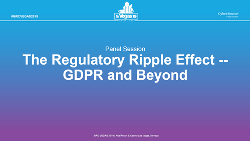 The Regulatory Ripple Effect -- GDPR and Beyond