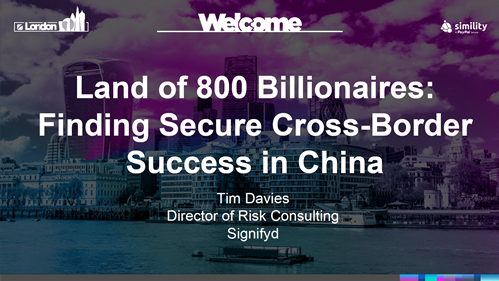 Land of 800 Billionaires: Finding Secure Cross-Border Success in China