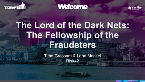 The Lord of the Dark Net: The Fellowship of the Fraudsters