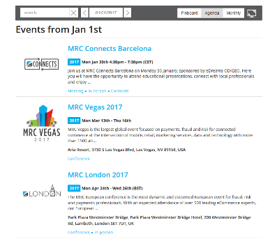 MRC website Events page