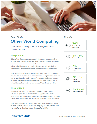 Forter Case Study: Other World Computing